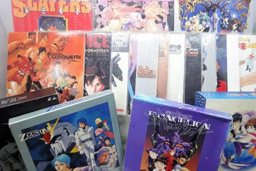 80年代アニメのレーザーディスク...
