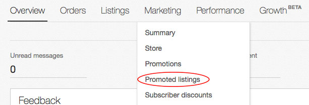 Promoted listings の設定方法